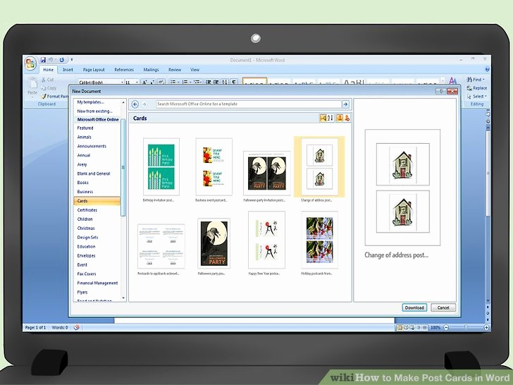 Make A Card In Word Best Of 3 Ways to Make Post Cards In Word Wikihow