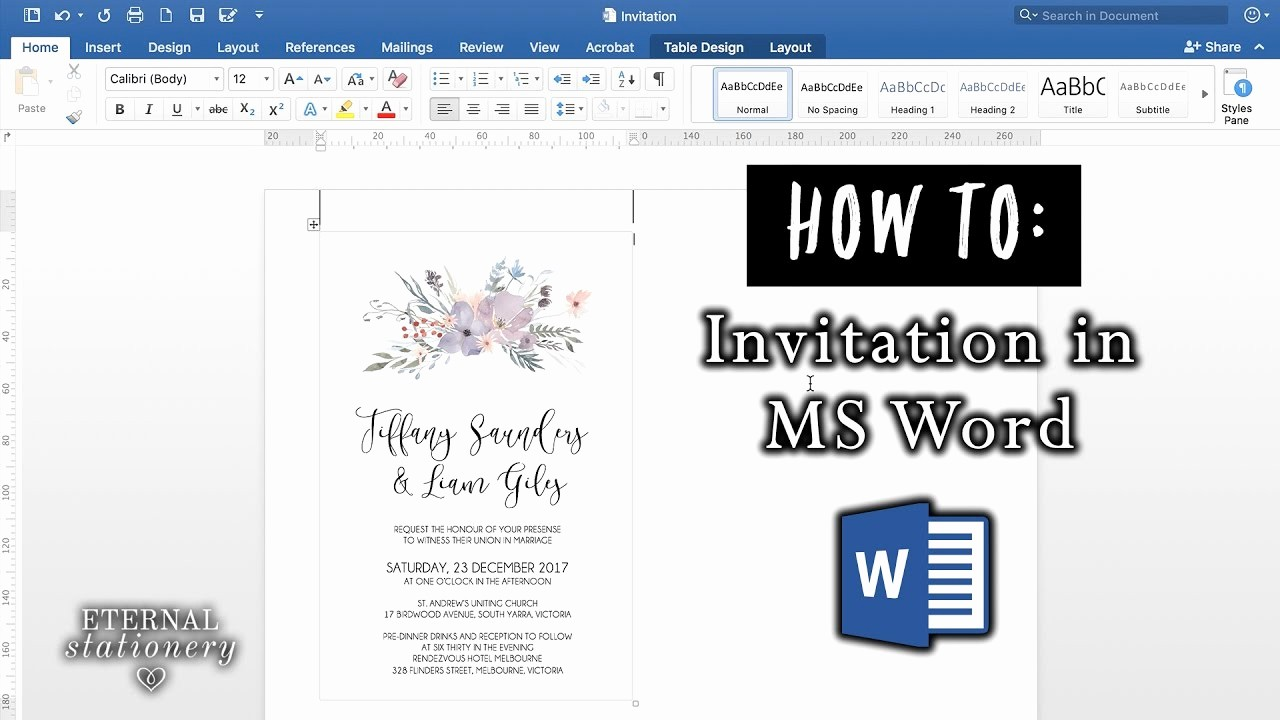 Make A Card In Word Best Of How to Make An Invitation In Microsoft Word