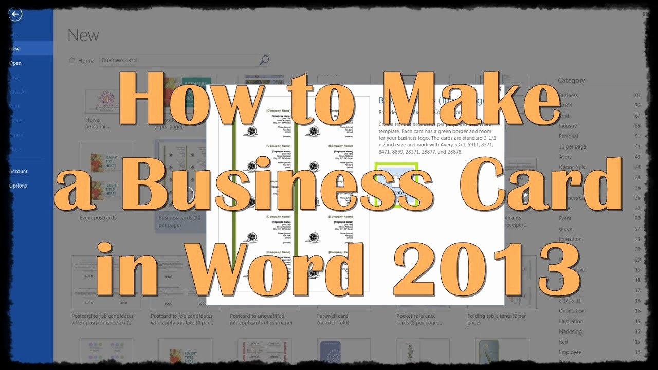 Make A Card In Word Fresh How to Make A Business Card In Word 2013