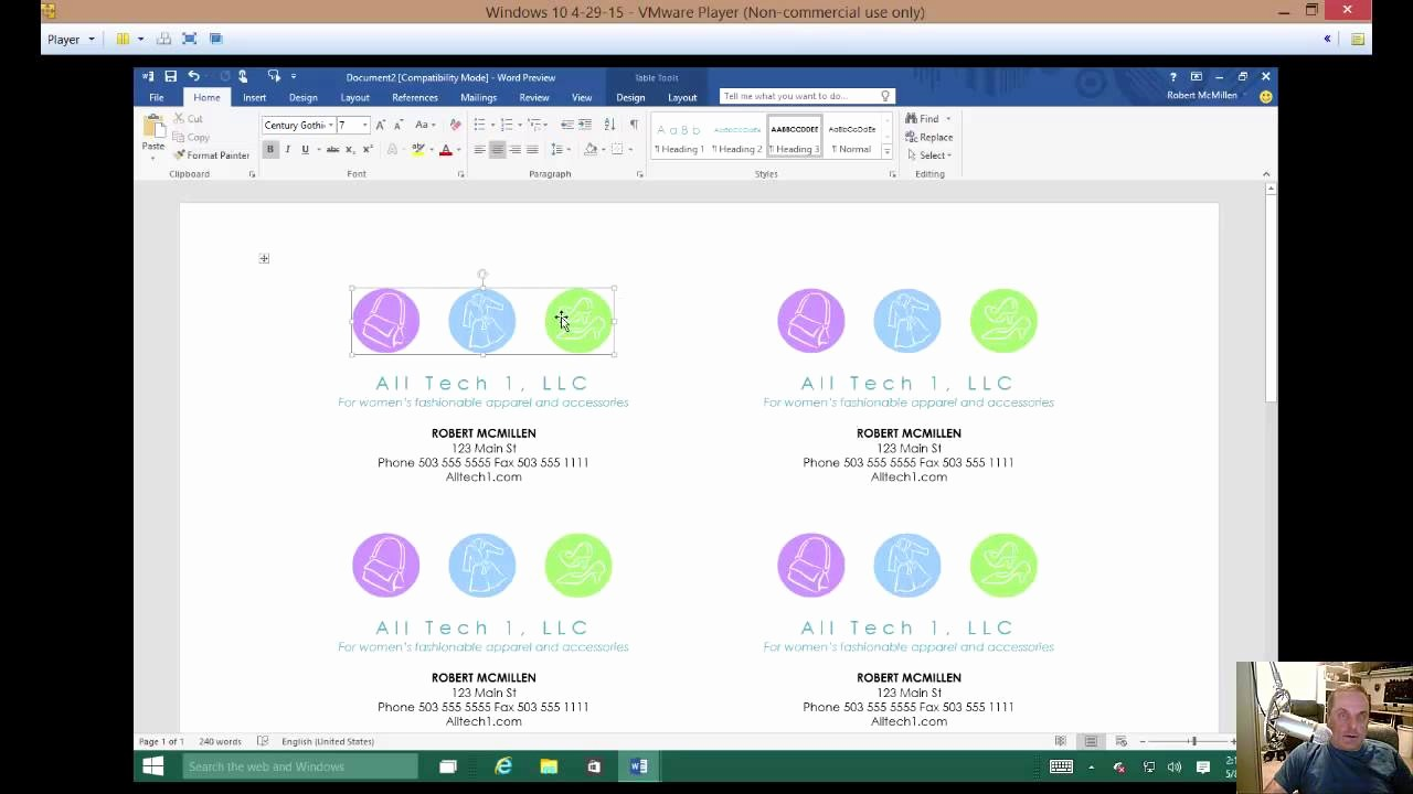 Make A Card In Word Lovely How to Make A Business Card In Microsoft Word 2016