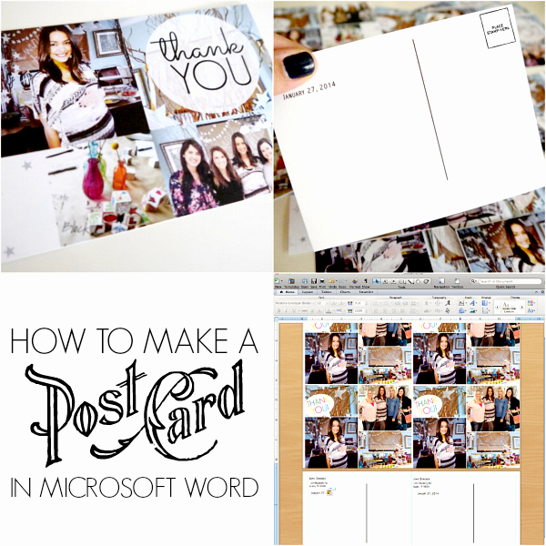 Make A Card In Word New How to Make Postcards In Microsoft Word C R A F T