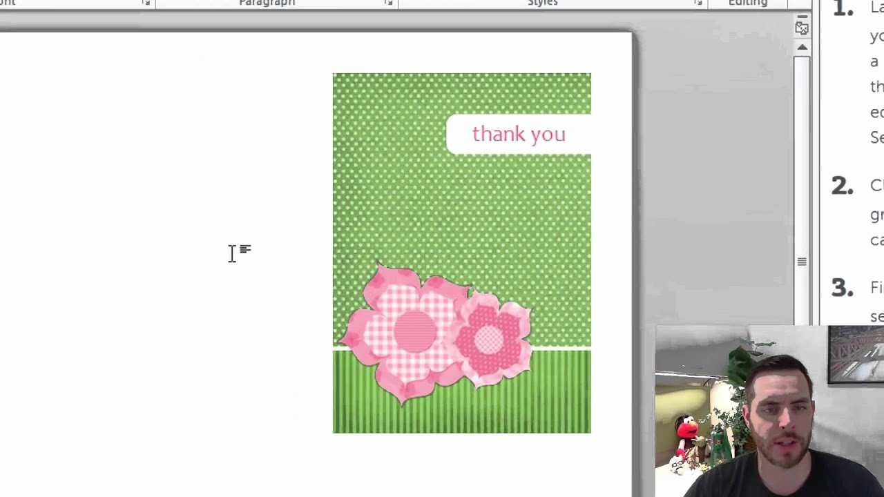 Make A Card In Word Unique How to Create Greeting Cards In Microsoft Word