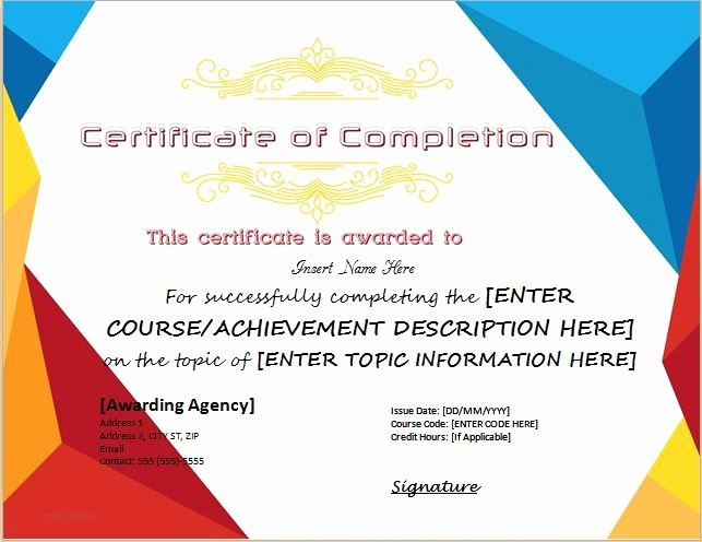 Make A Certificate Of Completion Beautiful Best 25 Certificate Of Pletion Template Ideas On