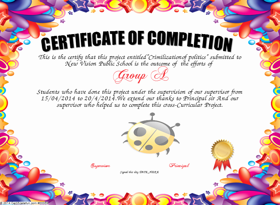 Make A Certificate Of Completion Beautiful Certificate Of Pletion Certificate