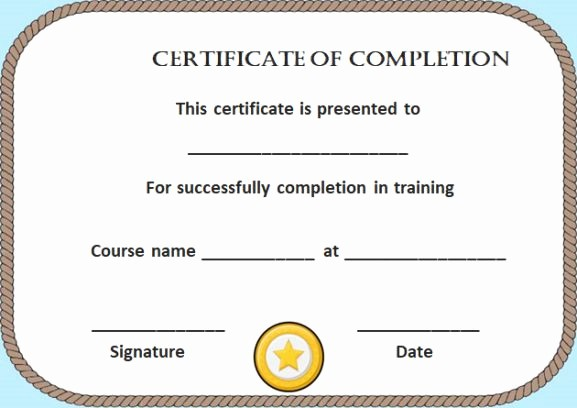 Make A Certificate Of Completion Best Of Certificate Of Pletion 22 Templates In Word format