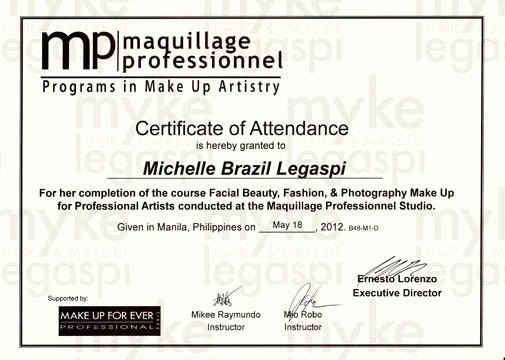 Make A Certificate Of Completion Best Of Hmua Myke Legaspi My Hair & Make Up Artistry Certificates