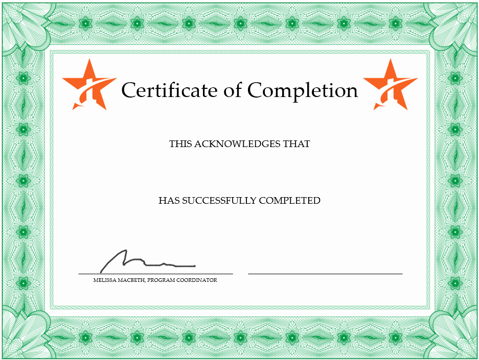 Make A Certificate Of Completion Fresh How to Create Your Own Certificate Of Pletion – Traineaze