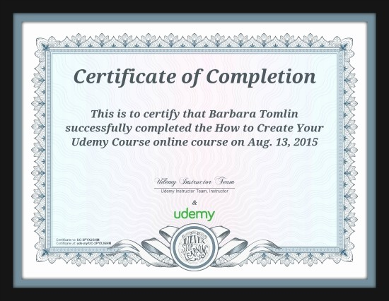 Make A Certificate Of Completion Fresh Udemy Course