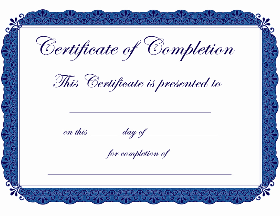Make A Certificate Of Completion Inspirational Certificate Templates
