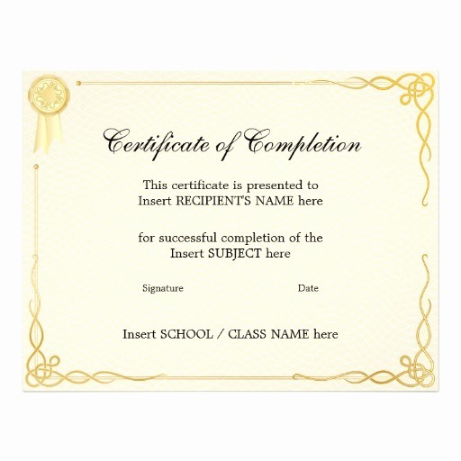 Make A Certificate Of Completion Lovely 8 Best Of Create Free Certificate Pletion Free