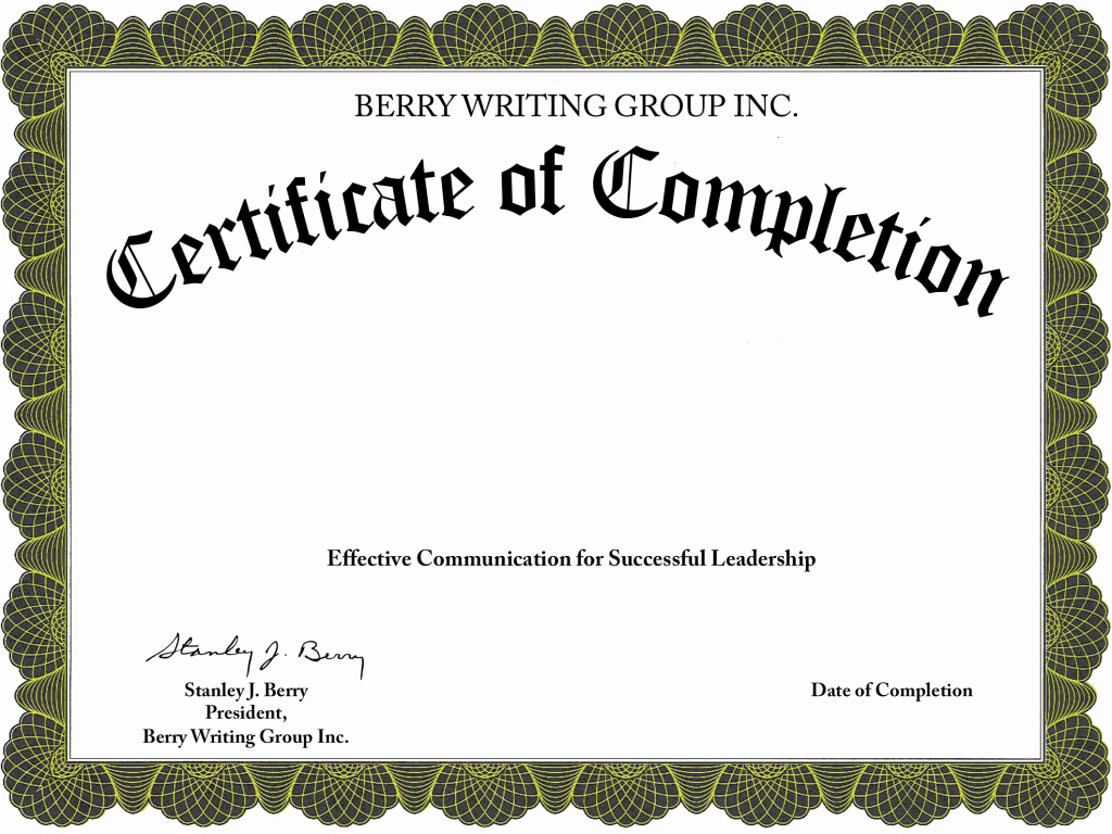 Make A Certificate Of Completion Lovely Best S Of Fillable Certificate Pletion Free
