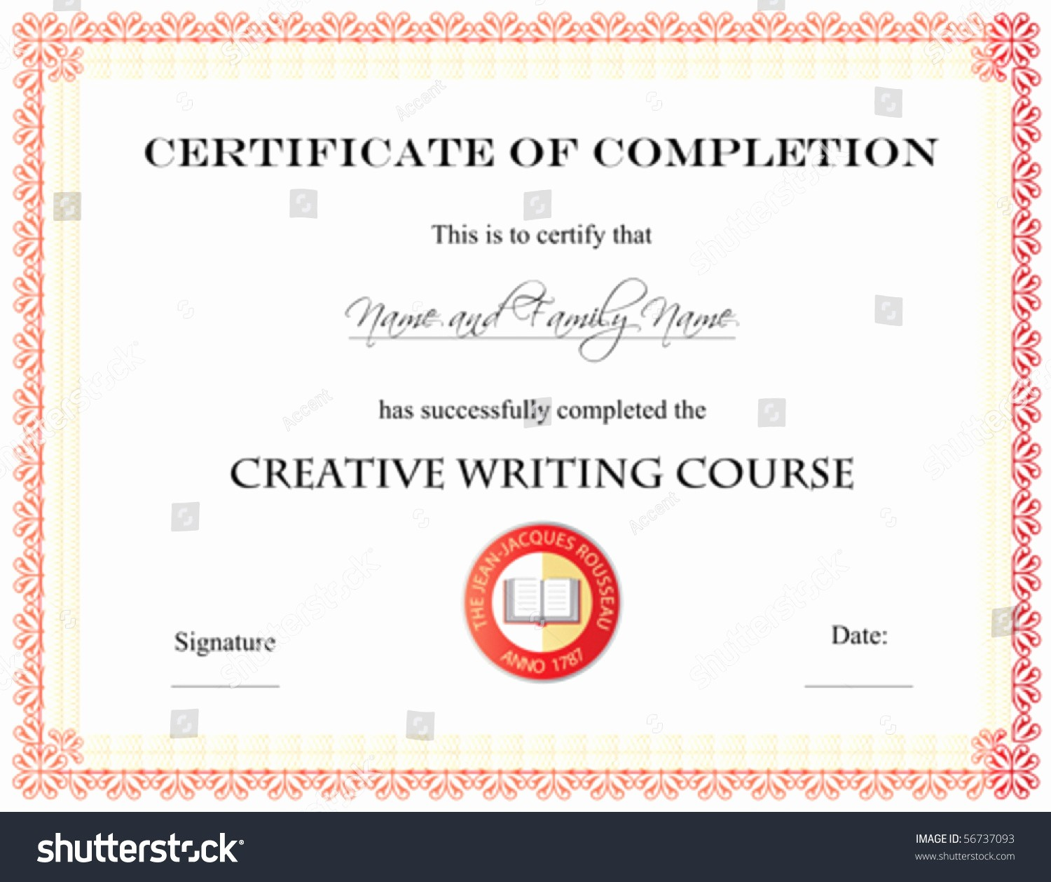 Make A Certificate Of Completion Lovely Vector Certificate Pletion Template Stock Vector