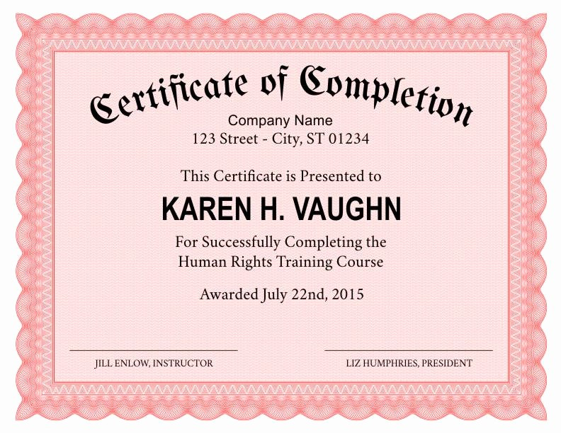 Make A Certificate Of Completion Luxury formal Certificate Of Pletion Template