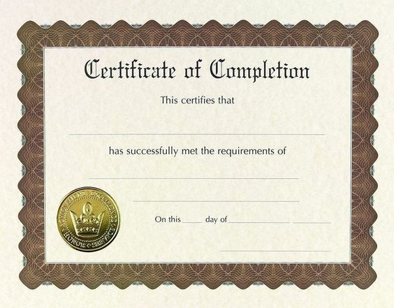 Make A Certificate Of Completion New Pinterest • the World's Catalog Of Ideas