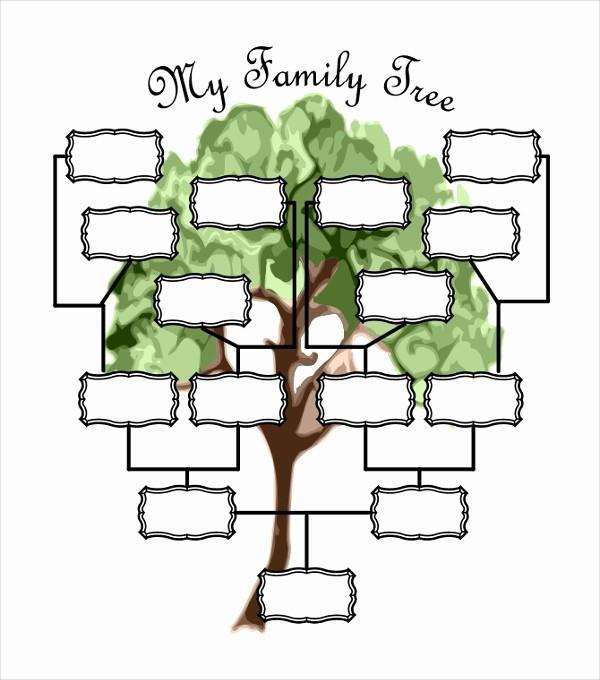 Make A Family Tree Chart Elegant 51 Family Tree Templates Free Sample Example format