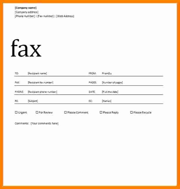 Make A Fax Cover Sheet Inspirational 6 How to Make A Cover Sheet for Fax