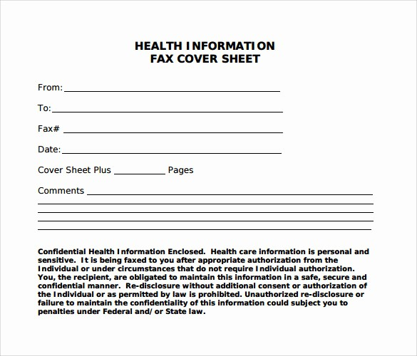 Make A Fax Cover Sheet New 10 Blank Fax Cover Sheets – Samples Examples & format