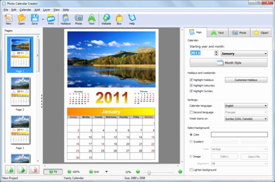 Make A Photo Calendar Free Awesome Calendar Creator Free and software