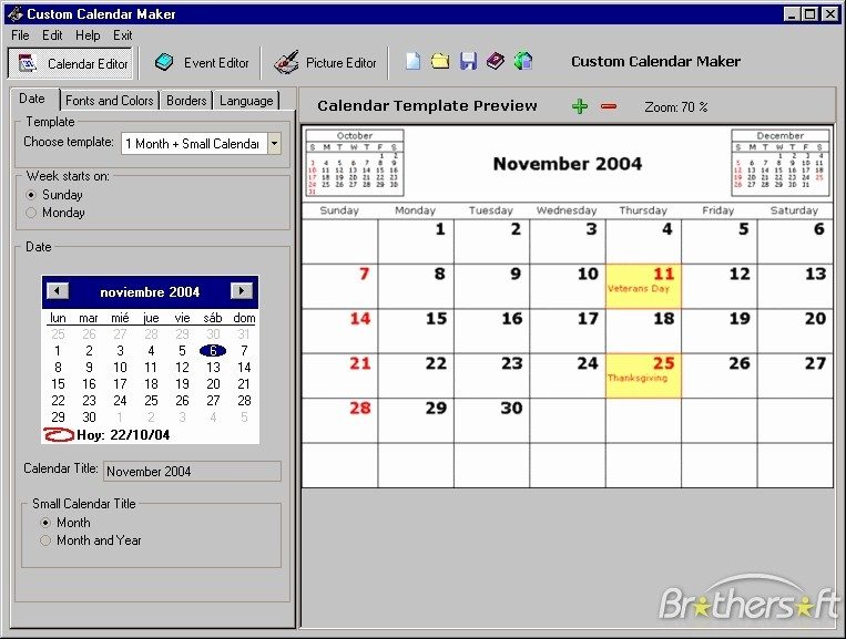 Make A Photo Calendar Free Awesome Download Free Custom Calendar Maker Custom Calendar Maker