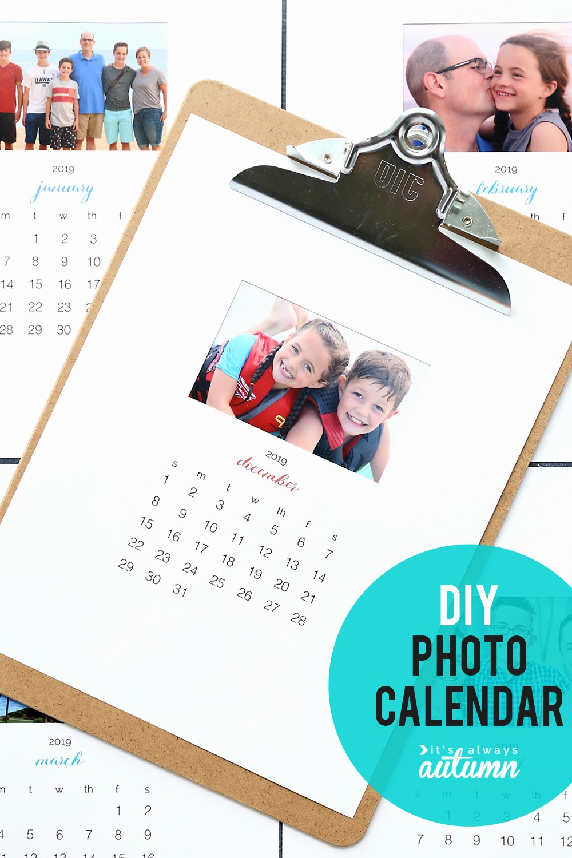 Make A Photo Calendar Free Elegant Make Your Own Personalized Calendar Free Printable 2019