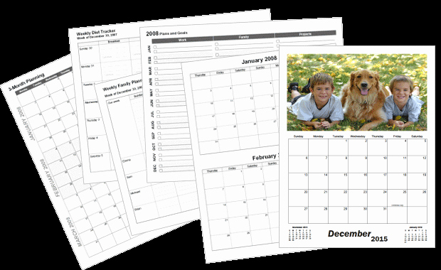 Make A Photo Calendar Free Lovely Create Custom Printable Calendars Calendarsquick