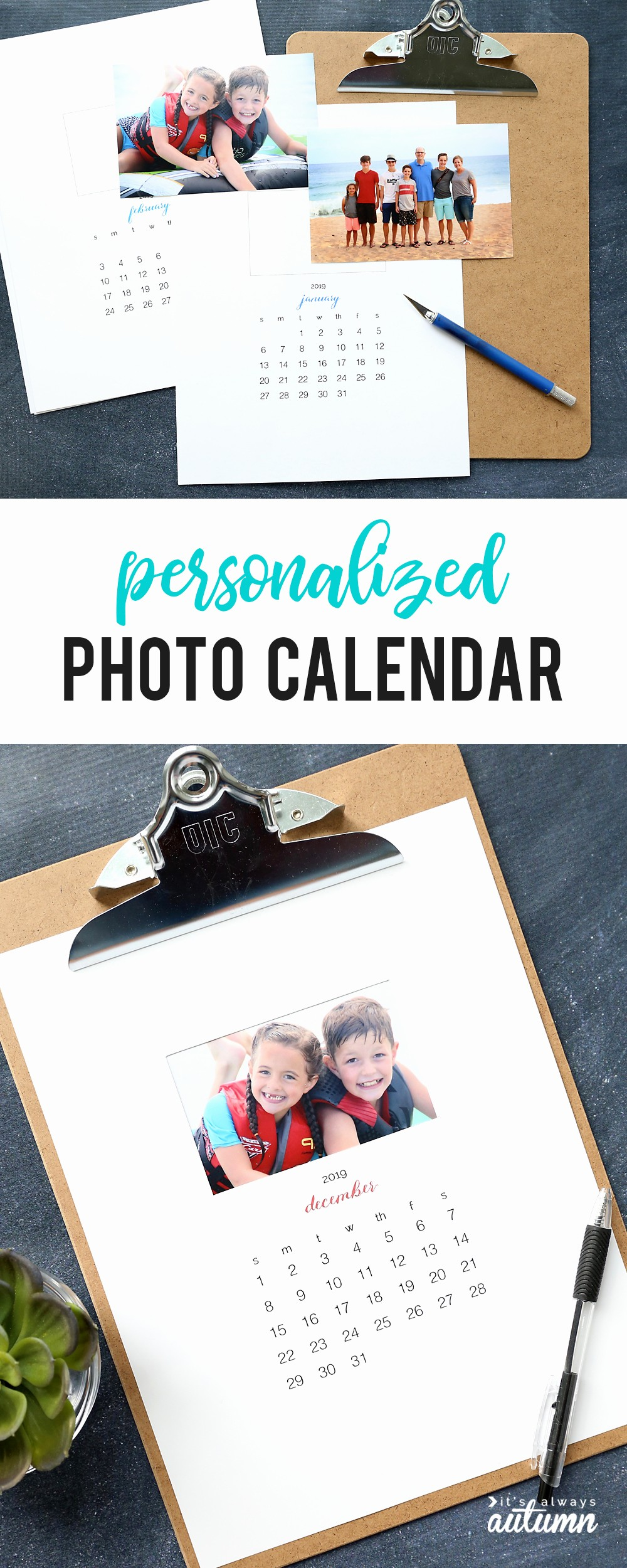 Make A Photo Calendar Free Lovely Make Your Own Personalized Calendar Free Printable 2019