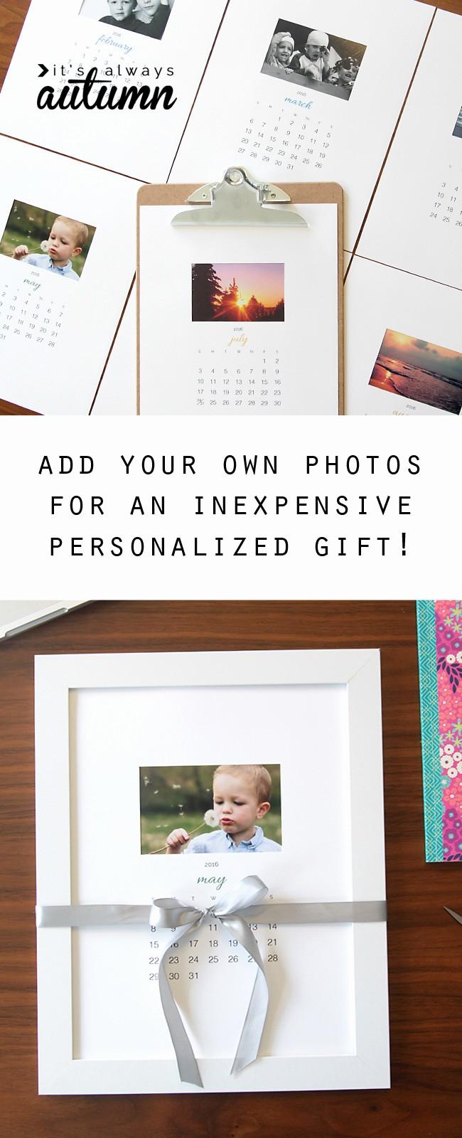 Make A Photo Calendar Free New Free Printable 2016 Photo Calendar Great Diy T Idea