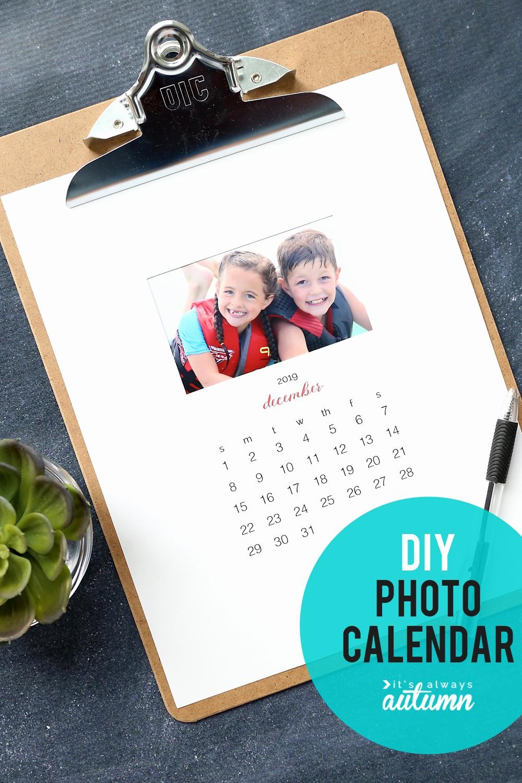 Make A Photo Calendar Free Unique Make Your Own Personalized Calendar Free Printable 2019