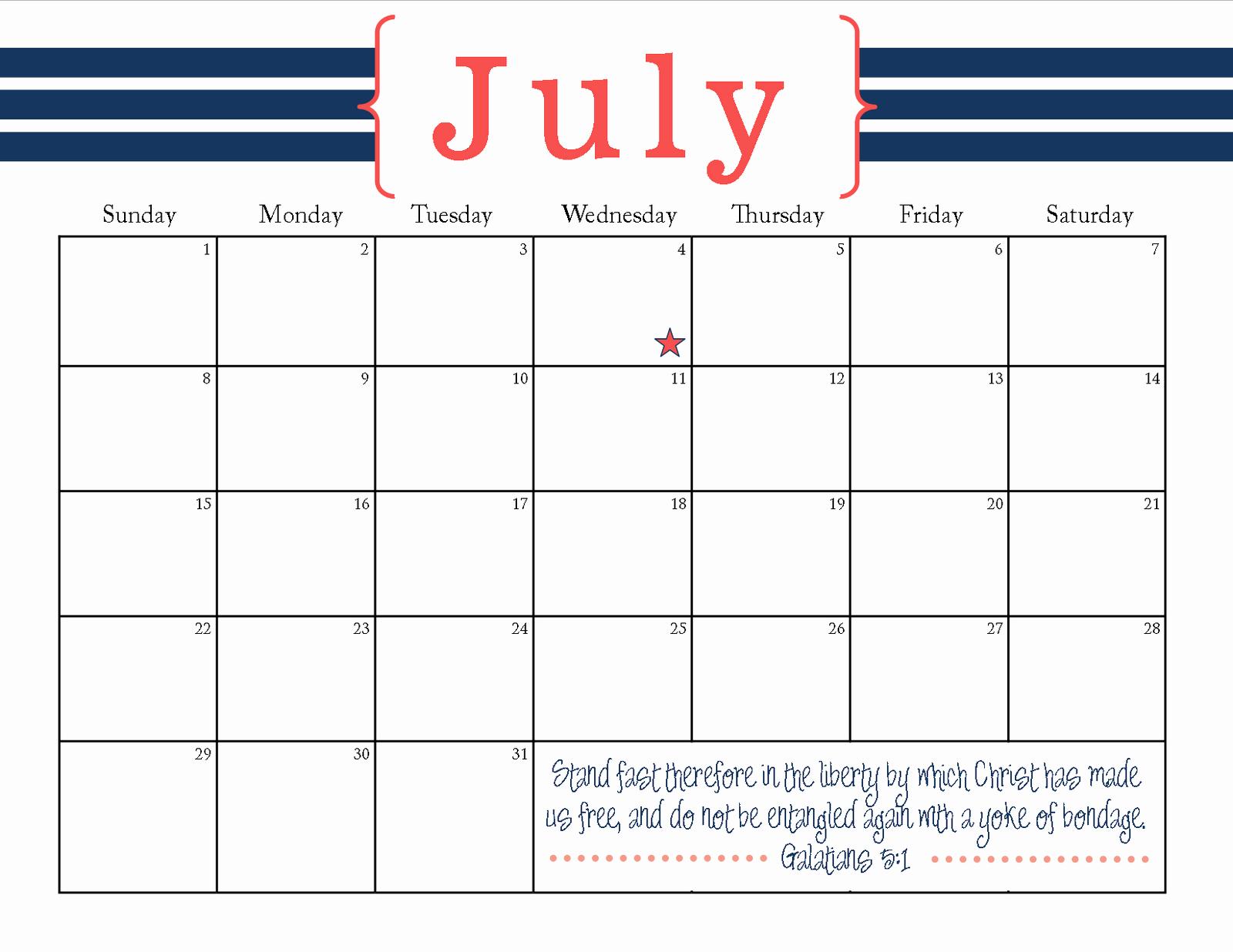 Make A Photo Calendar Free Unique Printable July Calendar Hospiiseworks