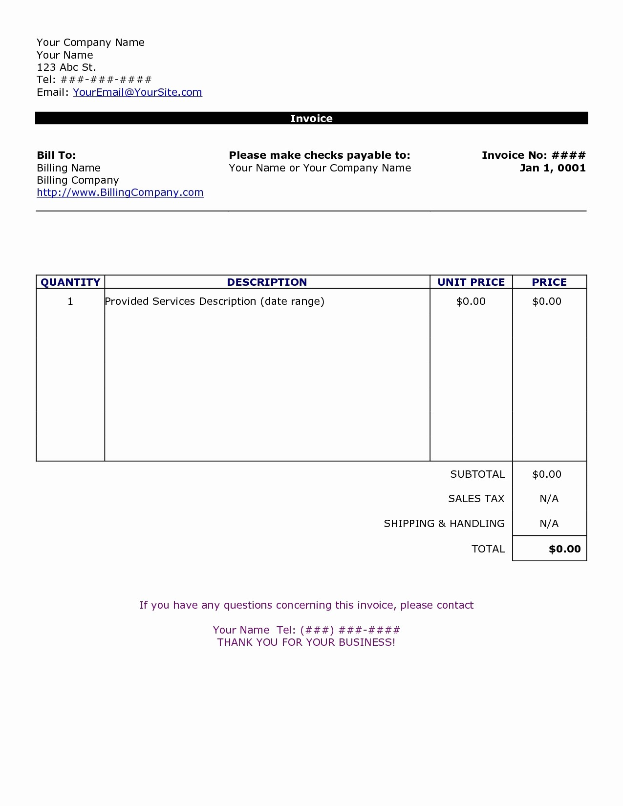 Make An Invoice On Word Awesome Create An Invoice In Word Invoice Template Ideas