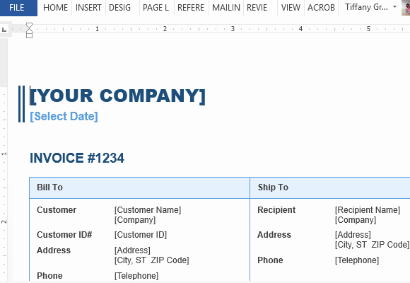 Make An Invoice On Word Beautiful Sales Invoice Template for Word