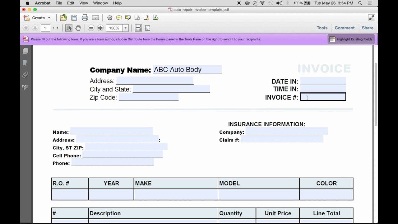 Make An Invoice On Word Best Of How to Make An Auto Repair Invoice Excel Pdf