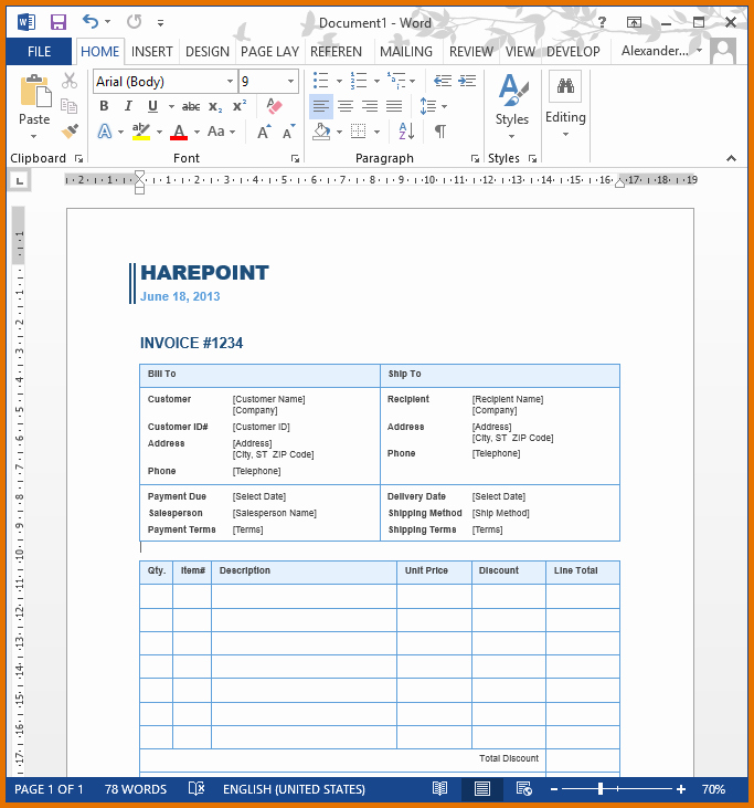 Make An Invoice On Word Lovely 8 How to Make An Invoice In Wordreference Letters Words