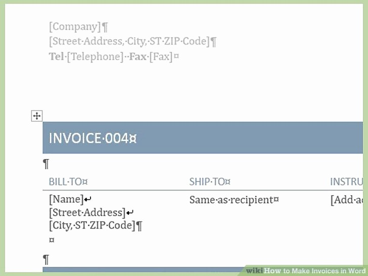 Make An Invoice On Word Lovely How to Make Invoices In Word 12 Steps with