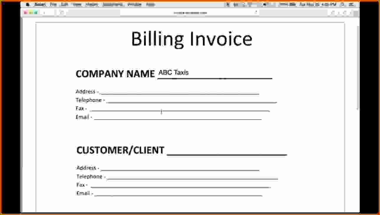 Make An Invoice On Word New 6 How to Make An Invoice In Word
