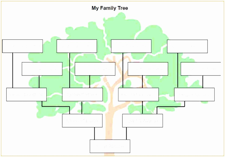 Make Family Tree In Word Elegant 9 Microsoft Word Family Tree Template Free Uwepa