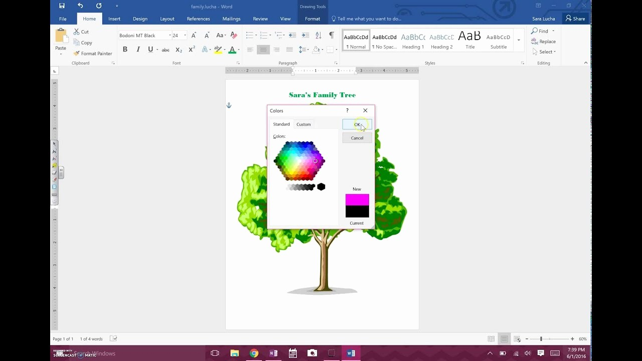 Make Family Tree In Word Lovely How to Family Tree On Word