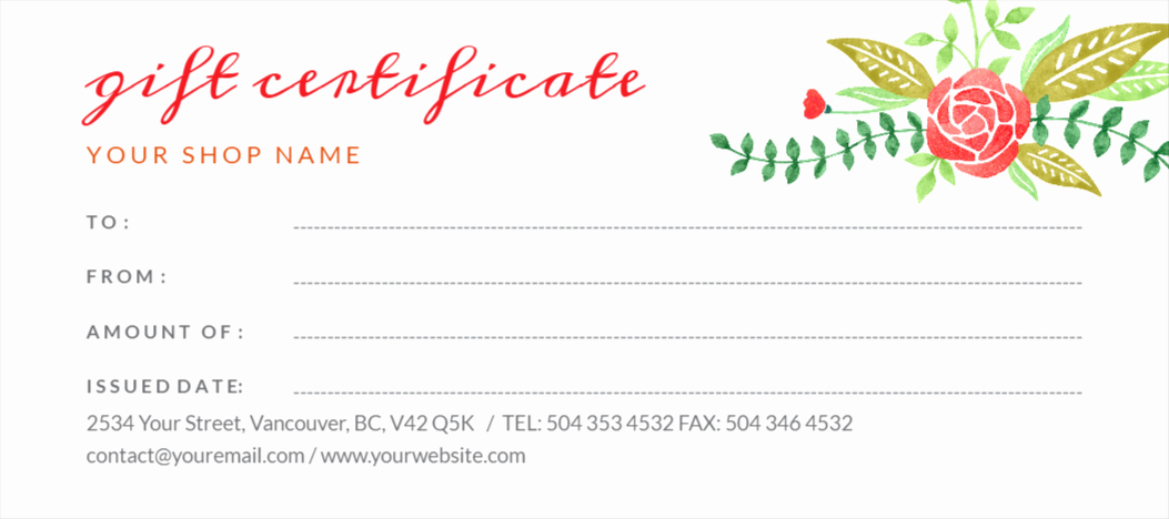 Make Gift Certificate Online Free Elegant Free Gift Certificates Maker Design Your Gift