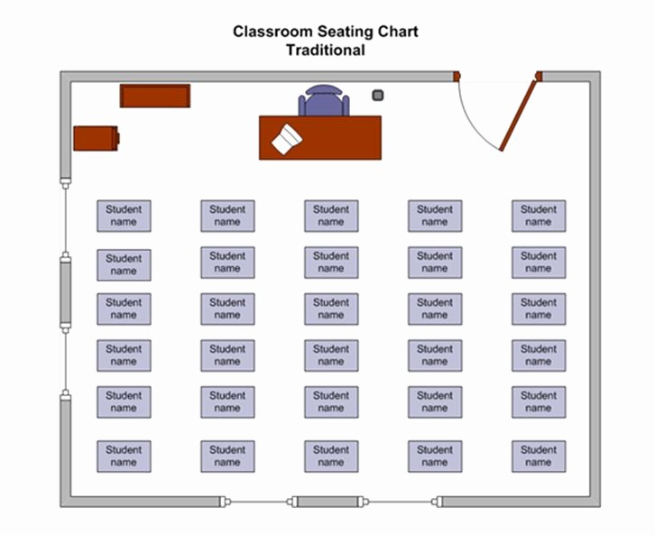 Make Seating Chart Online Free Beautiful Classroom Seating Chart Template