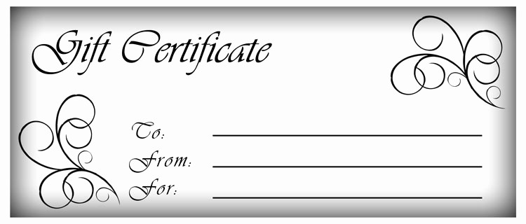 Make Up Gift Certificate Template Beautiful Blank Gift Certificate