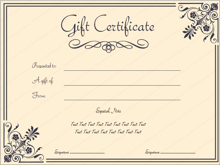 Make Up Gift Certificate Template Beautiful Printable Coral Core Gift Certificate Template