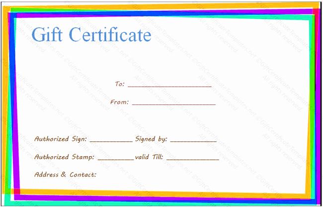 Make Up Gift Certificate Template Best Of Gift Certificate Templates to Make Your Own Certificates