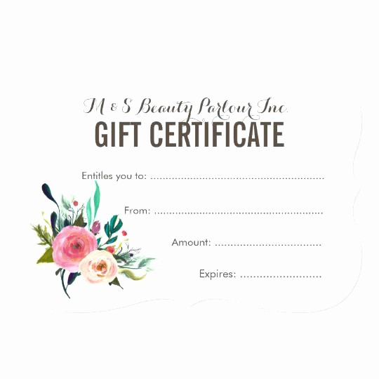 Make Up Gift Certificate Template Best Of Makeup Gift Certificate Template – Creative Advice