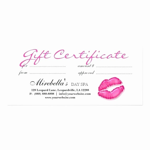 Make Up Gift Certificate Template Fresh Makeup Gift Certificate Template – Creative Advice