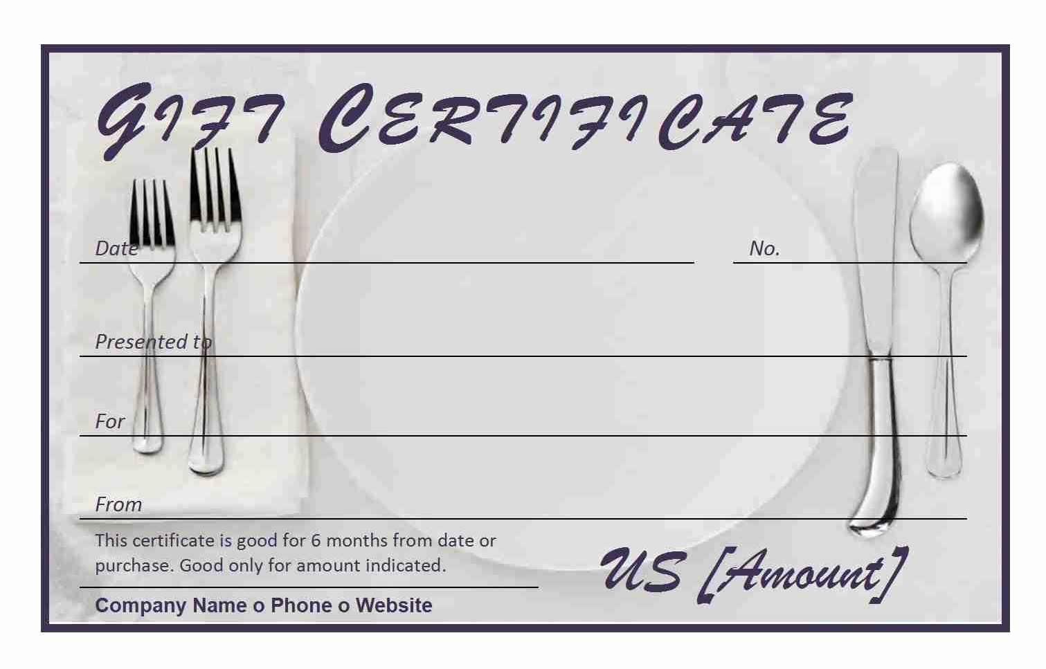 Make Up Gift Certificate Template Inspirational Restaurant Gift Certificate