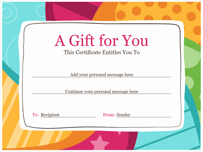 Make Up Gift Certificate Template Lovely Get A Free Gift Certificate Template for Microsoft Fice