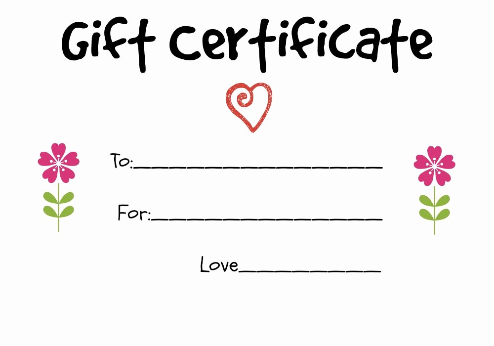 Make Up Gift Certificate Template Luxury Homemade Gift Certificate Ideas to Give to A Grandparent