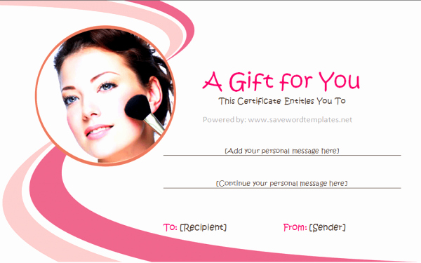 Make Up Gift Certificate Template New Gift Certificate Templates Professional Business Gift
