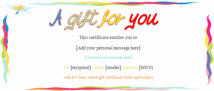 Make Up Gift Certificate Template Unique Make Your Own Gift Certificate Free Papa Johns In
