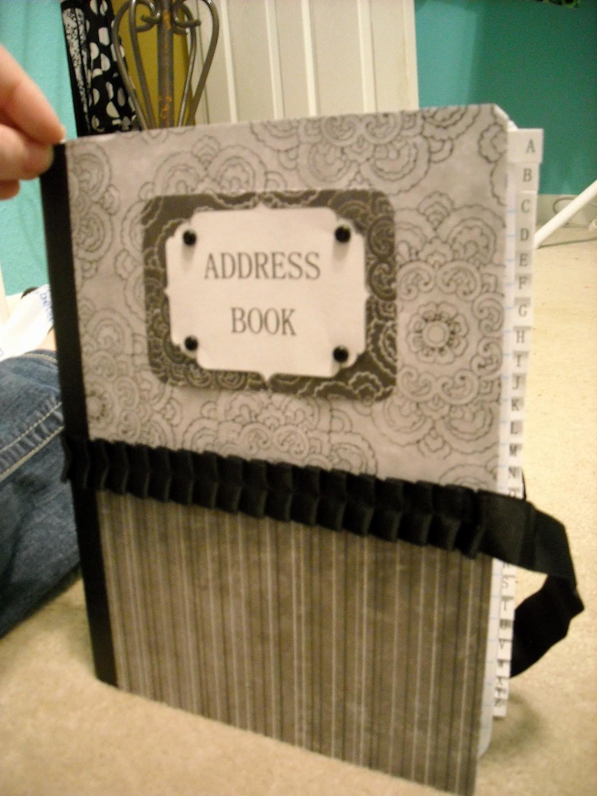 Make Your Own Address Book Beautiful Nik S Naks Diy Address Book